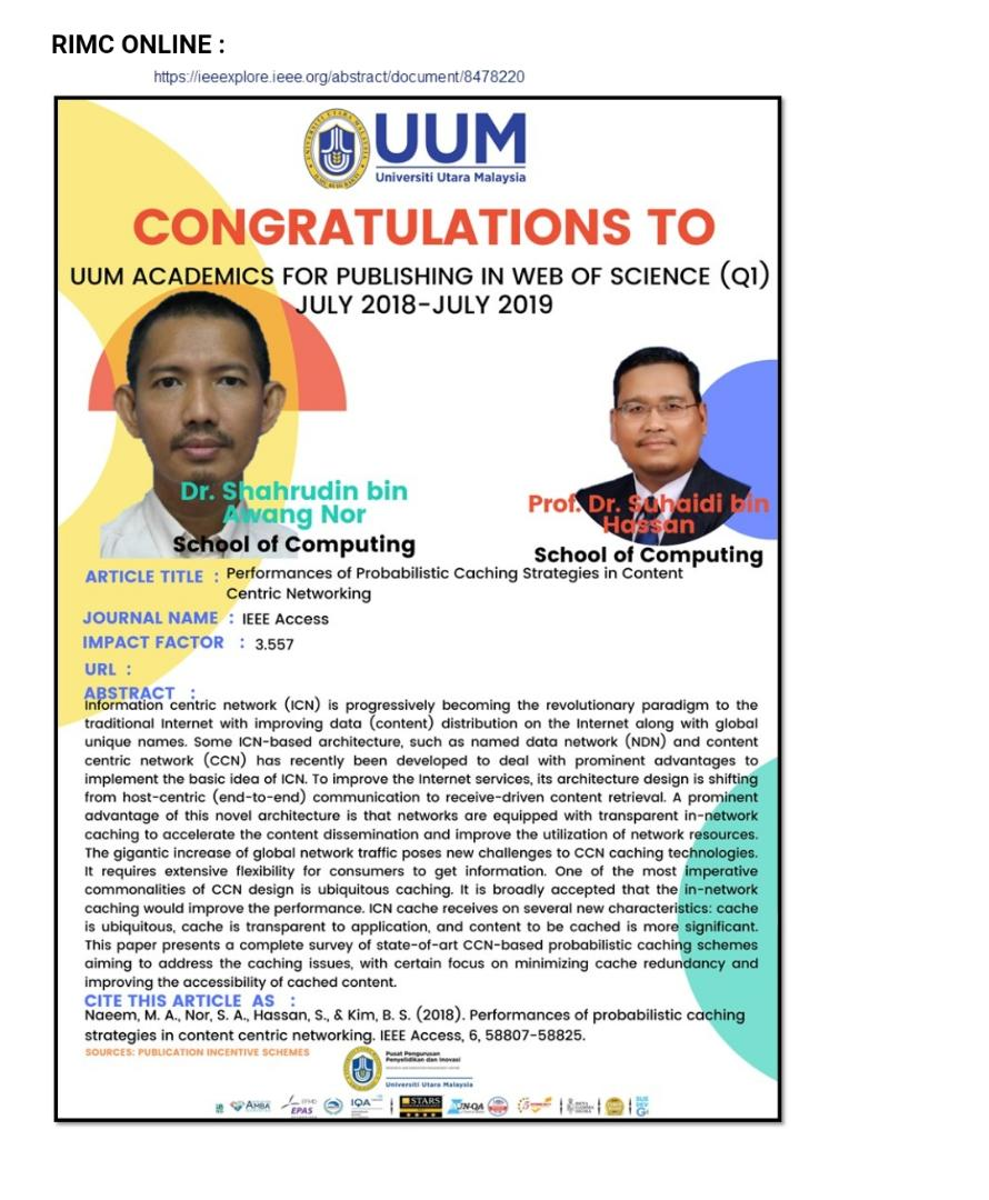 UUM Academics for Publishing In Web Of Science (Q1)